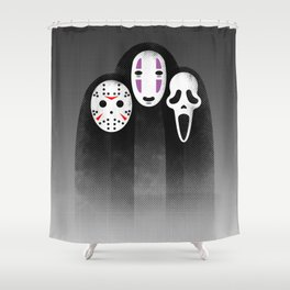 The Three MASKeteers Shower Curtain