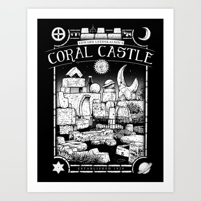 Coral Castle Art Print