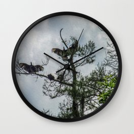 The Vultures are Waiting Wall Clock
