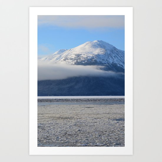 Winter Fog - Turnagain Arm, Alaska Art Print