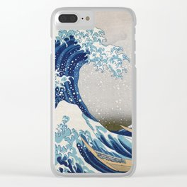 Under the Wave off Kanagawa - The Great Wave - Katsushika Hokusai Clear iPhone Case