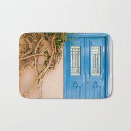 Blue Door in Chania, Crete Bath Mat