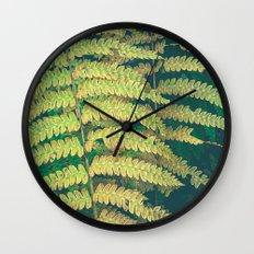 Woodland Fern Wall Clock