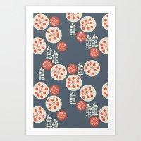 confetti Art Prints featuring confetti by jennifer judd-mcgee