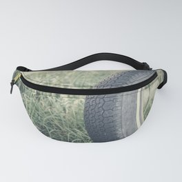Old rubber wheel tied up as a swing Fanny Pack