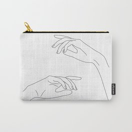 Hands line drawing - Bel Carry-All Pouch