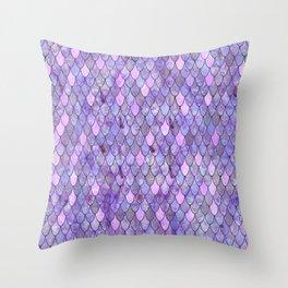 Mermaid Lilac Throw Pillow