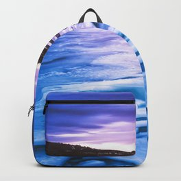 Lake Effect // Frozen Ice Water Sunset Mountain Landscape Photography Pink Purple Blue Clouds Backpack