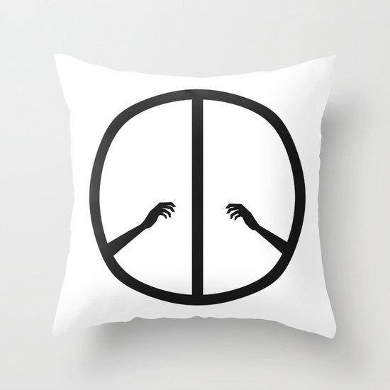 Peace struggle Throw Pillow