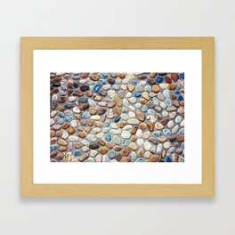 Pebble Rock Flooring V Framed Art Print