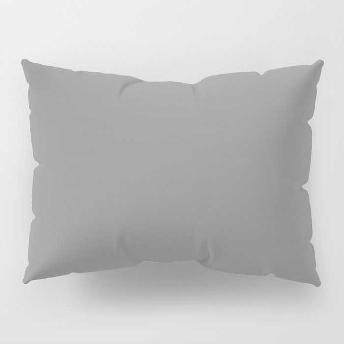 Solid Dark Battleship Gray Color Pillow Sham