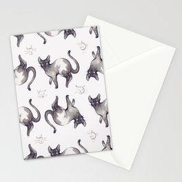 Pattern Cats Stationery Cards