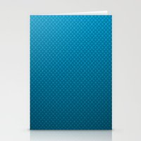 lv Stationery Cards featuring LV Blue Pattern by Veylow