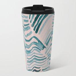 Trippy Turquoise Waves Travel Mug