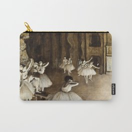 Edgar Degas - Ballet Rehearsal On Stage Carry-All Pouch