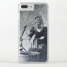 Antique candle making Clear iPhone Case