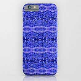 Ancient Thread Pattern Blue iPhone Case