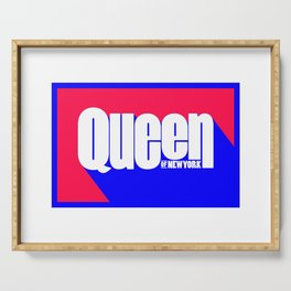 Queen of New York (Blue & Red) Serving Tray