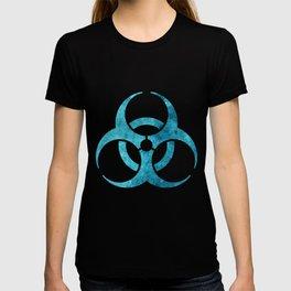 Blue Biohazard Symbol T-shirt