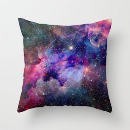 Purple Galaxy Throw Pillow
