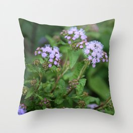 September Wildflowers Throw Pillow