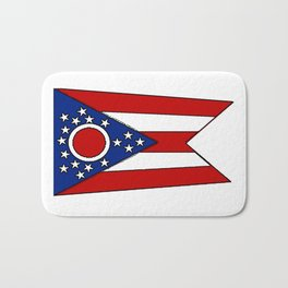 Fancy Flag:  Ohio Bath Mat