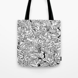 Lots of Bodies Doodle in Black and White Tote Bag