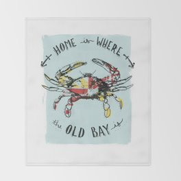 Blue Crab + Old Bay Throw Blanket