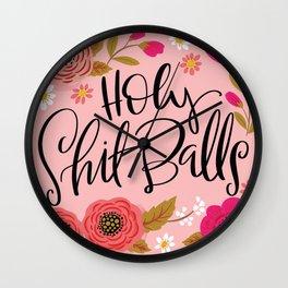 Pretty Swe*ry: Holy Shit Balls Wall Clock