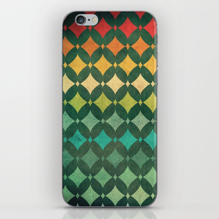 Vintage Rainbow Pattern iPhone Skin