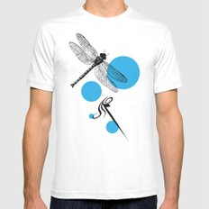 Dragonfly MEDIUM Mens Fitted Tee White