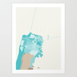 San Francisco V.2 Colored Art Print
