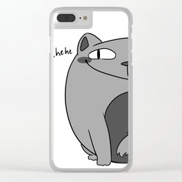 Fat Cat with a Smug Face Clear iPhone Case