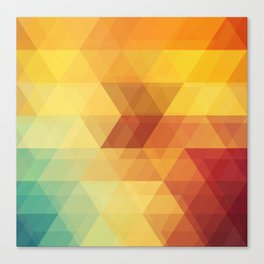 The Geometry Of Triangles Part-1 Canvas Print