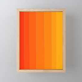 Variety Orange Framed Mini Art Print