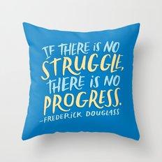 Frederick Douglass on Progress Throw Pillow