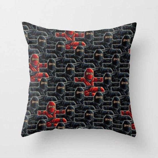 Ninja Attack Throw Pillow