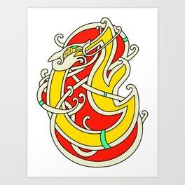 Viking Dragon of Infinite Warmth Art Print