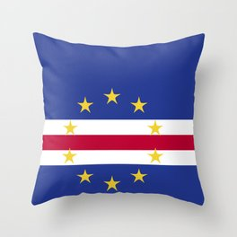 Cape Verde flag emblem Throw Pillow