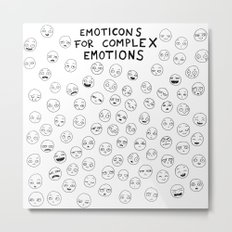 Emoticons For complex Emotions Metal Print