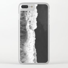 The Sea (Black and White) Clear iPhone Case