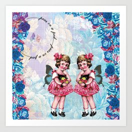 Twin Girls Art Print