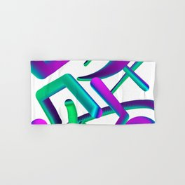 abstract colorful shapes Hand & Bath Towel
