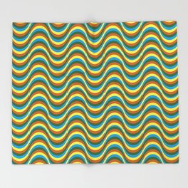 Ondas  Throw Blanket