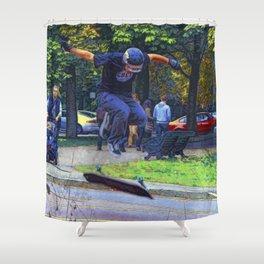 Kickflip  -  Skateboarder Shower Curtain