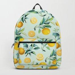 Oranges, Botanical, Fruits, Kitchen, Cute, Pattern, Modern art Backpack