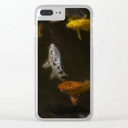 Koi Circle Clear iPhone Case