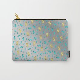 gold,blue silver metal dollar Carry-All Pouch