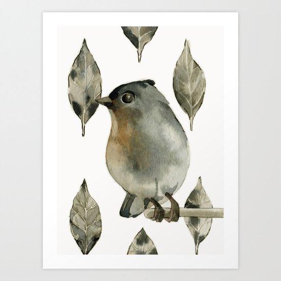 Grey Birdy Art Print