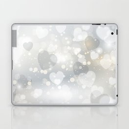 Silver Hearted Laptop & iPad Skin